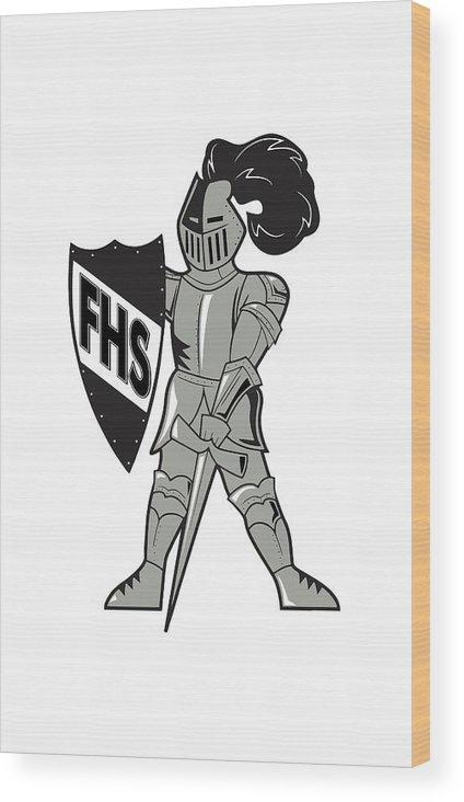 Wood Print featuring the digital art Raider by Chad Ulepich
