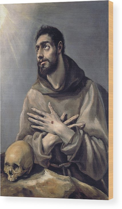 Assisi Wood Print featuring the painting Saint Francis In Ecstasy by El Greco