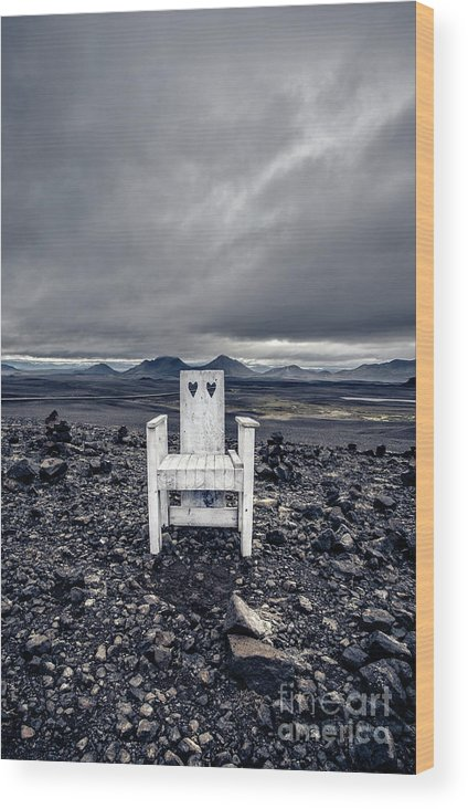 Chair Wood Print featuring the photograph Take A Seat Iceland by Edward Fielding