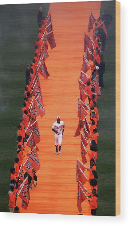 People Wood Print featuring the photograph Adam Jones by Rob Carr