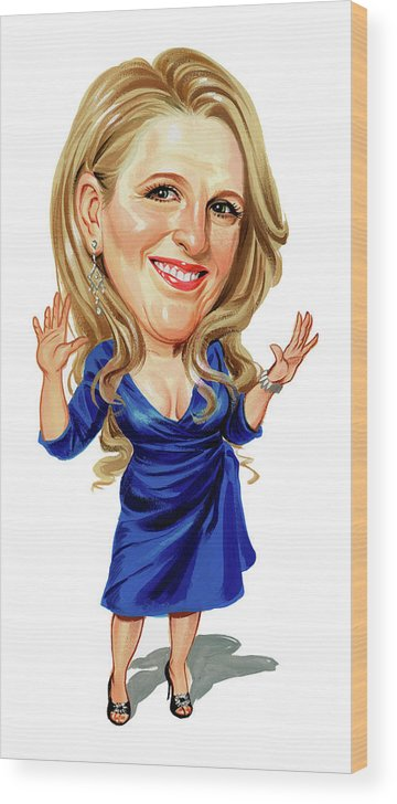 Lisa Lampanelli Wood Print featuring the painting Lisa Lampanelli by Art