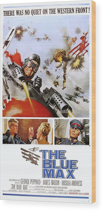 1960s Movies Wood Print featuring the photograph The Blue Max, Us Poster, Top George by Everett