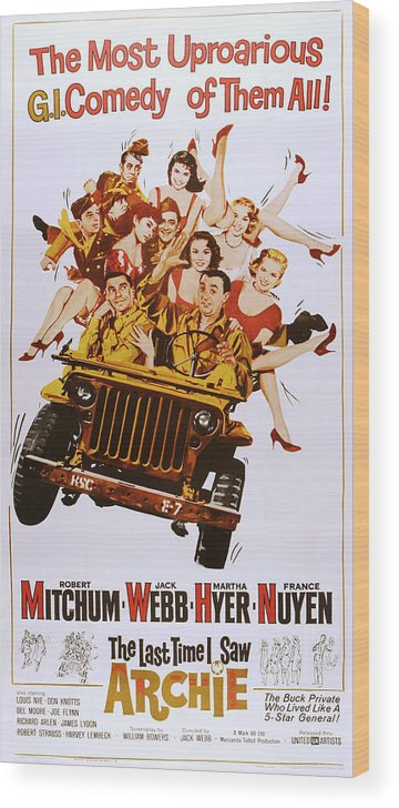 1960s Movies Wood Print featuring the photograph The Last Time I Saw Archie, Front by Everett