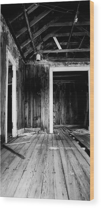 Black Wood Print featuring the photograph Vacant by Cat Connor