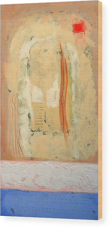 Abstract Wood Print featuring the painting Heat by Aliza Souleyeva-Alexander