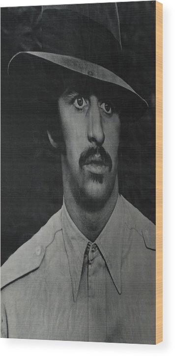 Ringo Starr Wood Print featuring the photograph Ringo by Rob Hans