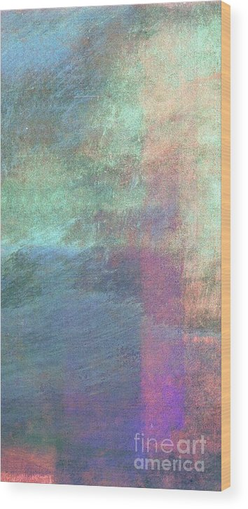 Writermore Wood Print featuring the mixed media Ser. 1 #04 by Writermore Arts
