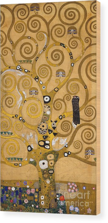 Klimt Wood Print featuring the painting Tree Of Life by Gustav Klimt