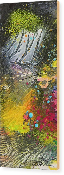 Miki Wood Print featuring the painting First Light by Miki De Goodaboom