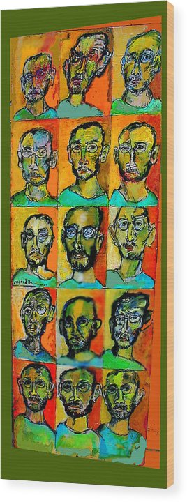 Self Portraits Wood Print featuring the mixed media All About Me by Noredin Morgan