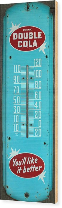 Rustic Wood Print featuring the photograph Rustic Thermometer by David Brown