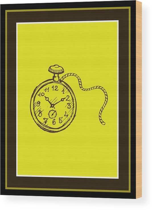 Wood Print featuring the digital art Stop Clock by Tracie Howard