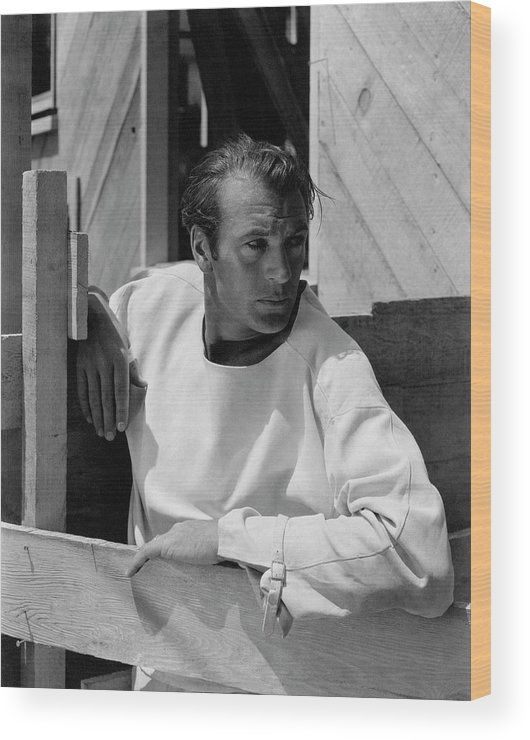 Outdoors Wood Print featuring the photograph Portrait Of Gary Cooper 1 by George Hoyningen-Huene