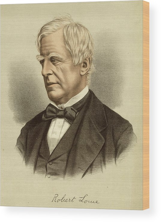 Robert Wood Print featuring the drawing Robert Lowe Viscount Sherbrooke by Mary Evans Picture Library
