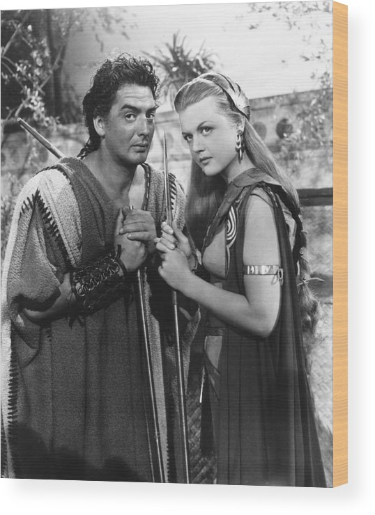 1940s Movies Wood Print featuring the photograph Samson And Delilah, From Left Victor by Everett