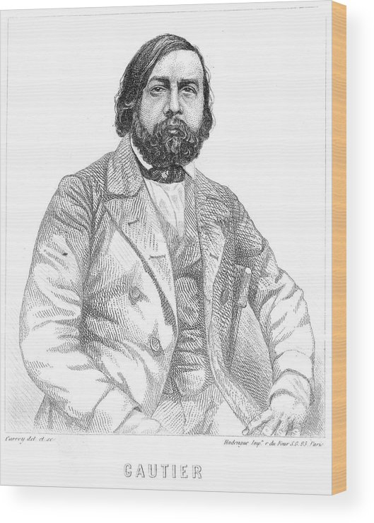 Gautier Wood Print featuring the drawing Theophile Gautier French Writer by Mary Evans Picture Library