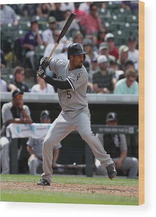 American League Baseball Wood Print featuring the photograph Chicago White Sox V Colorado Rockies 3 by Doug Pensinger