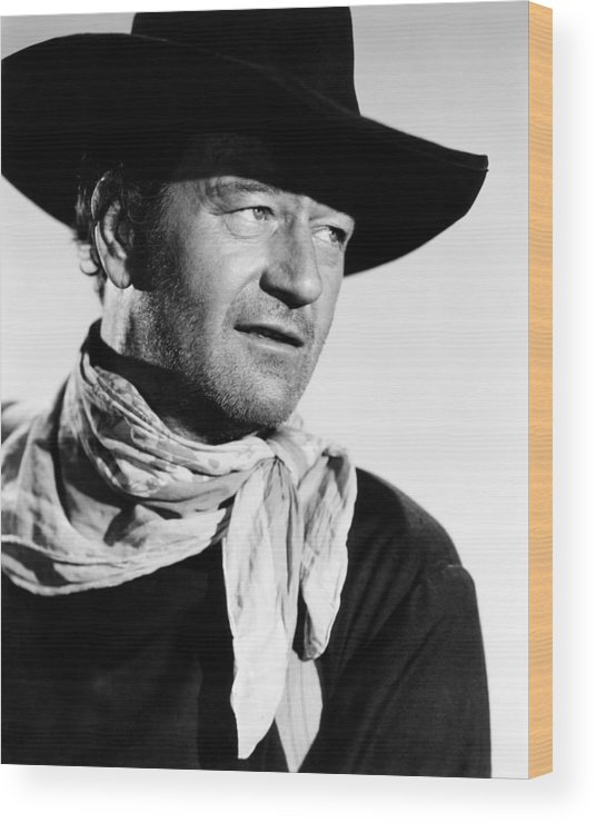 1950s Portraits Wood Print featuring the photograph The Searchers, John Wayne, 1956 by Everett
