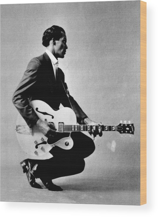 classic Wood Print featuring the photograph Chuck Berry by Retro Images Archive