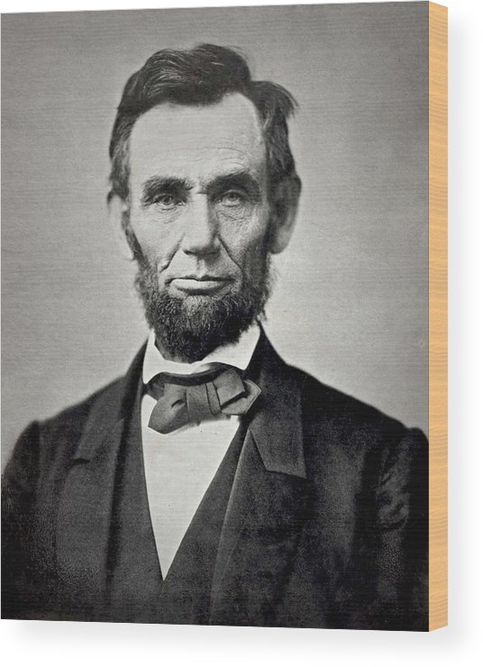 classic Wood Print featuring the photograph President Abraham Lincoln by Retro Images Archive