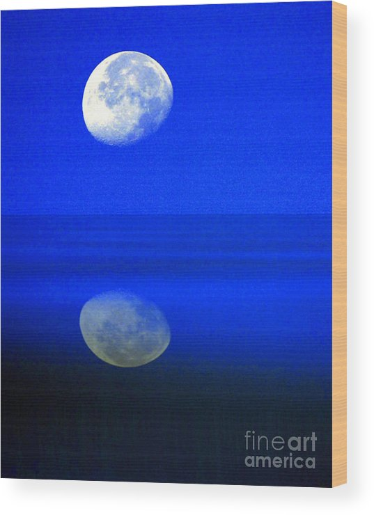 Senic Wood Print featuring the photograph A Blue Moon. by Robert Kleppin