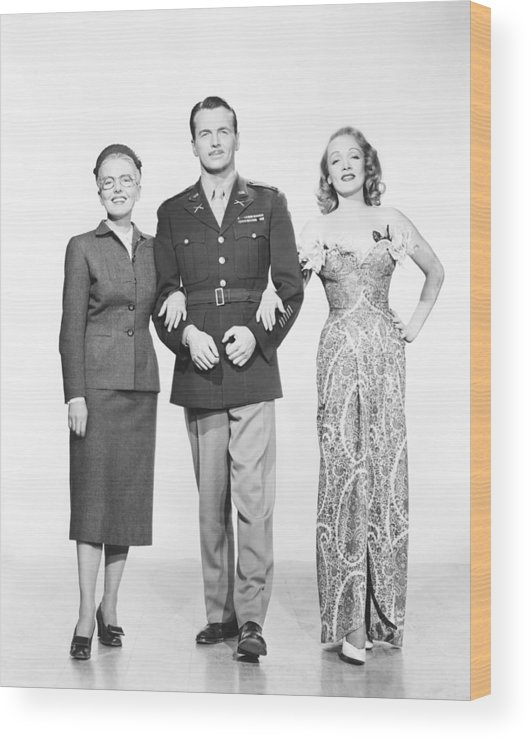 1940s Movies Wood Print featuring the photograph A Foreign Affair, From Left Jean by Everett