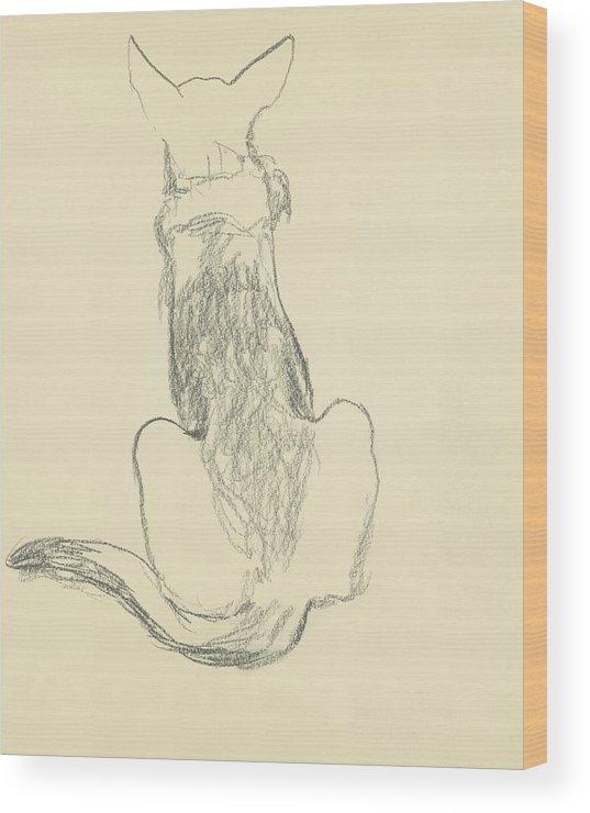 Animal Wood Print featuring the digital art A German Shepherd by Carl Oscar August Erickson