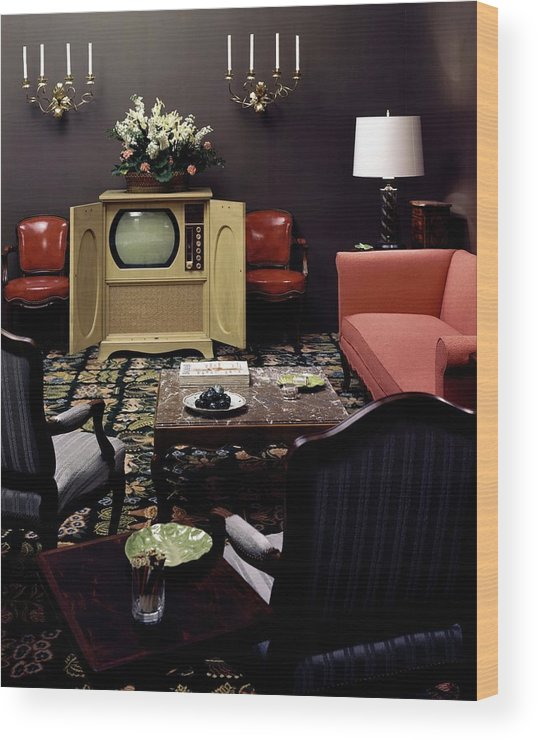 Furniture Wood Print featuring the photograph A Living Room by Haanel Cassidy