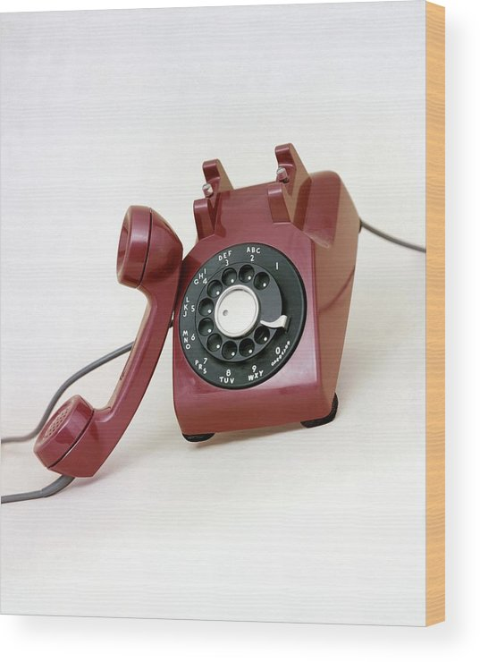 An Old Telephone Wood Print