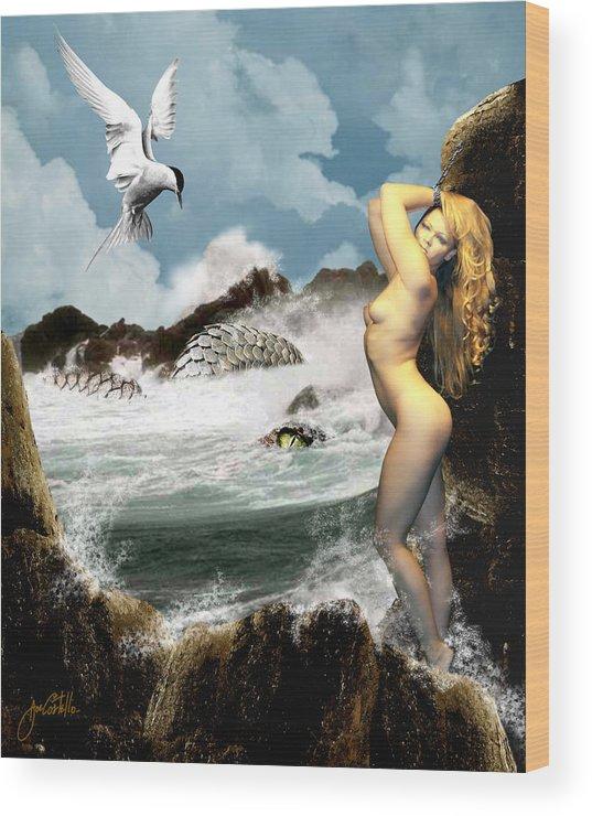 Greek Mythology Wood Print featuring the digital art Andromeda by Joe Costello