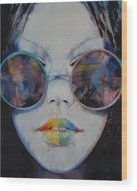 0a7c575afc8b 亚洲 Wood Print featuring the painting Asia by Michael Creese