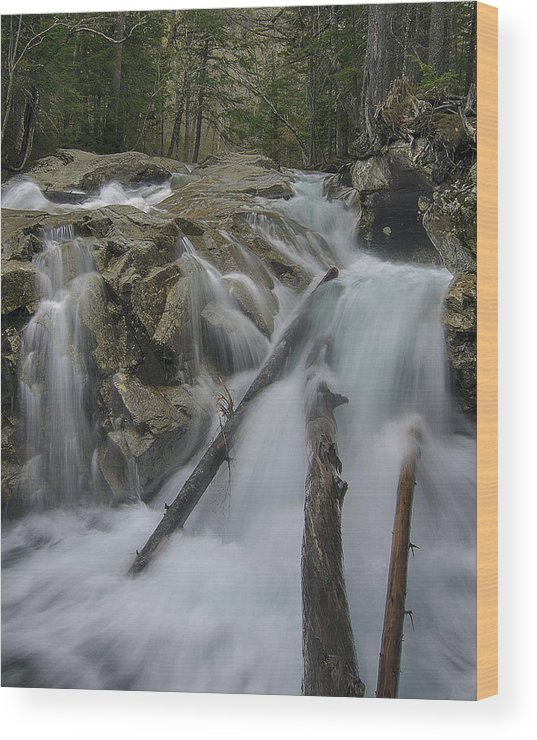 New England Wood Print featuring the photograph Basin Rapids by Scott Snyder