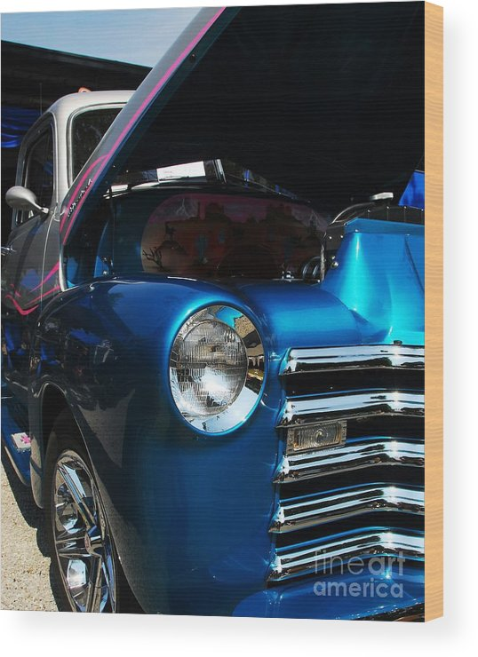 Nostalgia Wood Print featuring the photograph Clean And Shiny 1 by Mel Steinhauer