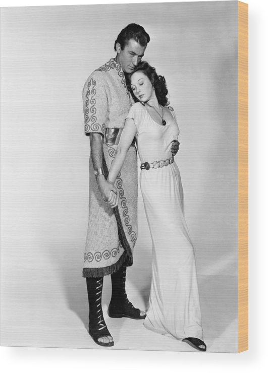 1950s Movies Wood Print featuring the photograph David And Bathsheba, From Left, Gregory by Everett