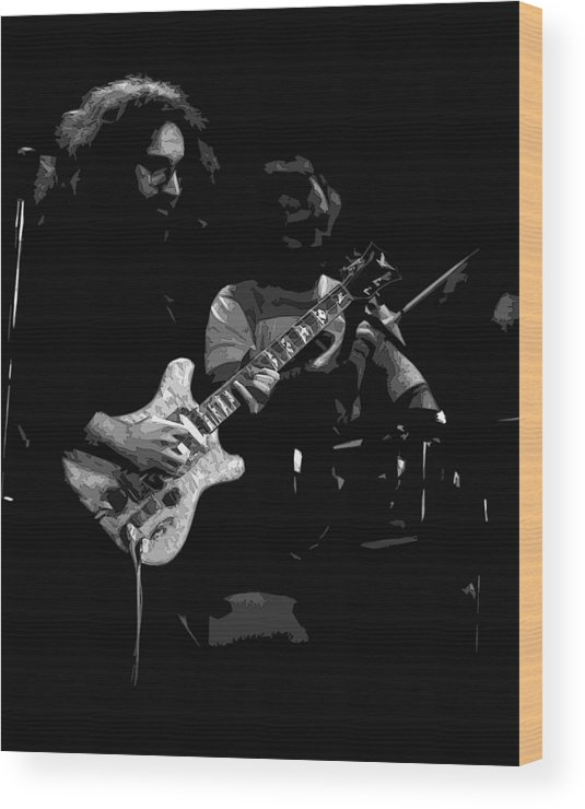 Grateful Dead Wood Print featuring the photograph Dead #19 Bw Art by Ben Upham