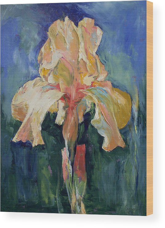 Iris Wood Print featuring the painting Dutch Iris by Michael Creese