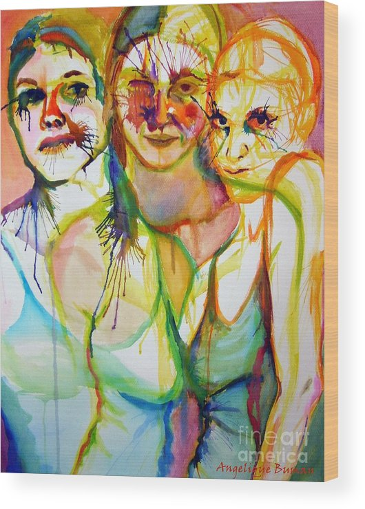 Women Wood Print featuring the painting Empowerment by Angelique Bowman