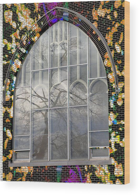 Church Wood Print featuring the photograph Fishtree by Lola Connelly