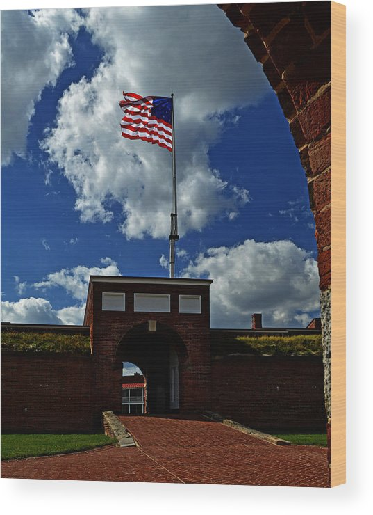 Fort Mchenry Wood Print featuring the photograph Fort Mchenry Main Gate by Bill Swartwout Fine Art Photography