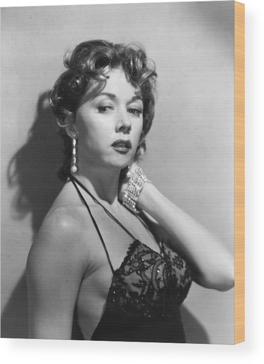 Gloria Grahame Wood Print featuring the photograph Gloria Grahame by Silver Screen