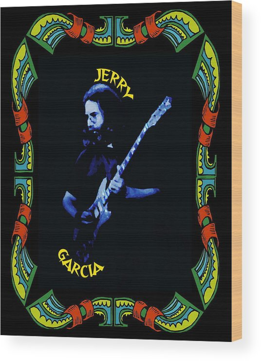 Grateful Dead Wood Print featuring the photograph Grateful For Jerry by Ben Upham