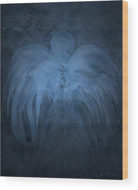 Angel Wood Print featuring the digital art Infinite Supply by Paula Majeski