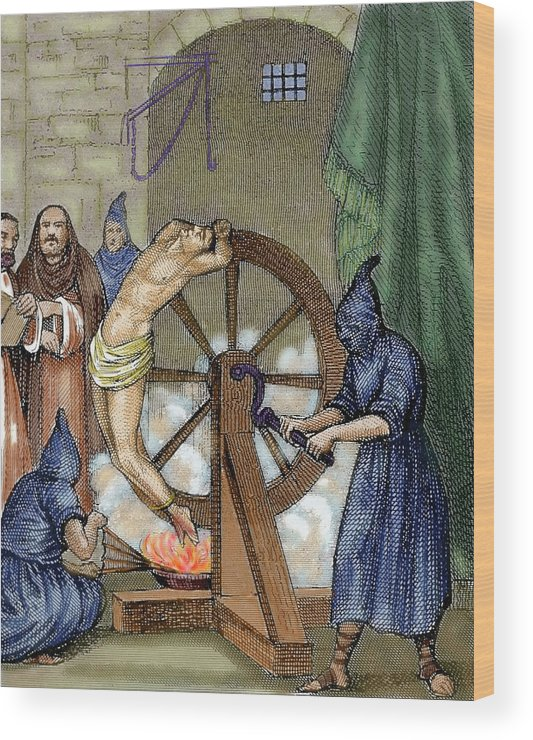 Art Wood Print featuring the photograph Inquisition Instrument Of Torture by Prisma Archivo