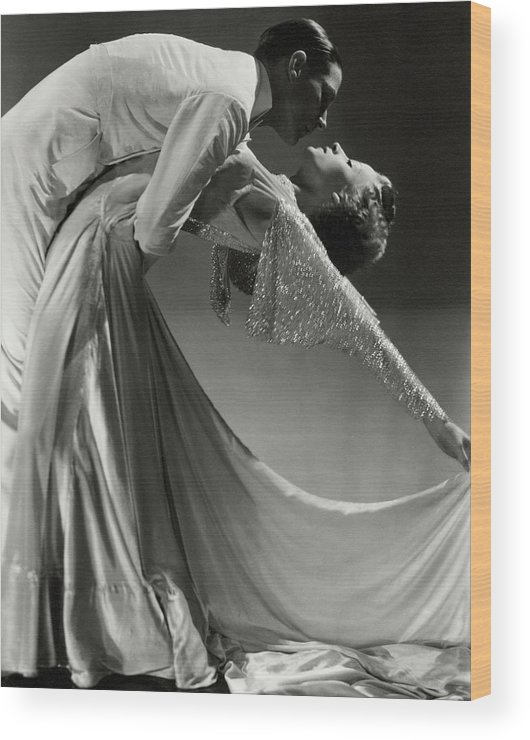 Dance Wood Print featuring the photograph Jack Holland And June Hart Dancing by Horst P. Horst