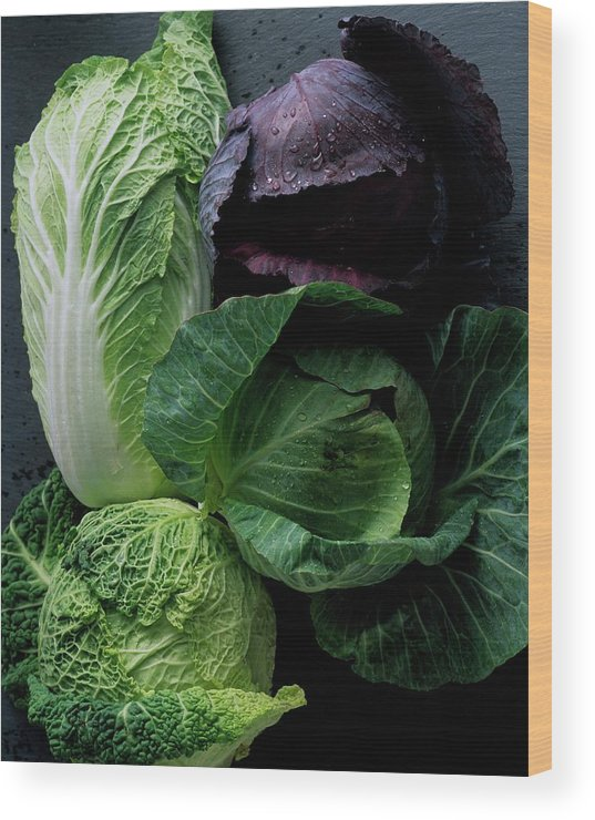 Fruits Wood Print featuring the photograph Lettuce by Romulo Yanes