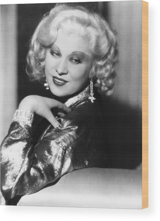 1930s Hairstyles Wood Print featuring the photograph Mae West, Ca. 1935 by Everett