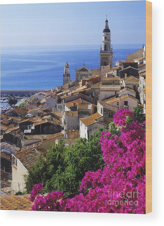 Menton Wood Print featuring the photograph Menton by Derek Croucher