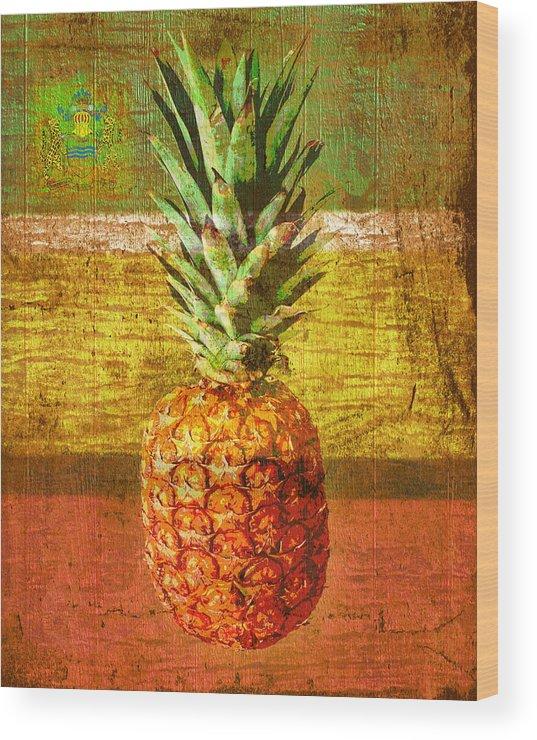 Guyana Wood Print featuring the digital art Pine by Mark Khan