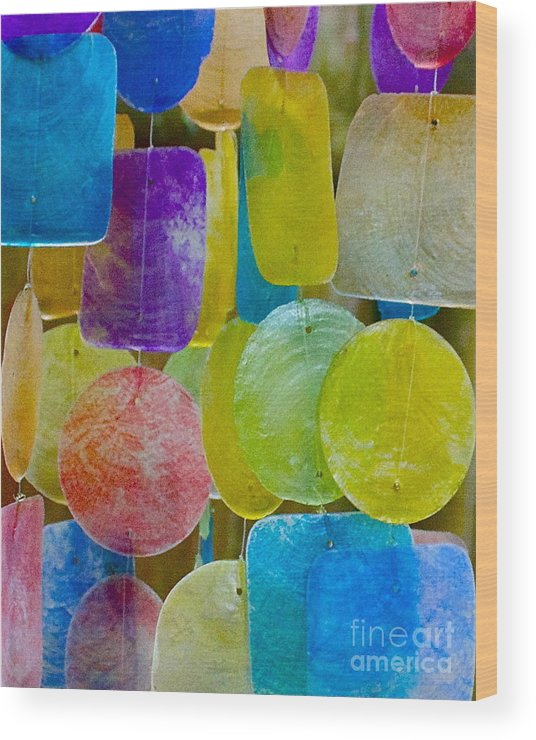 Wind Chimes Wood Print featuring the photograph Quiet Chime by Alice Mainville