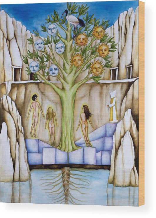 Resurrection Wood Print featuring the painting Resurrection Island by Rebecca Barham